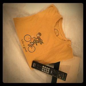 Golden Short Sleeve Life is Good T-shirt